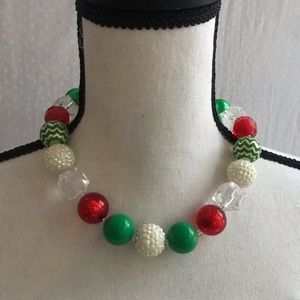 Other - Chunky Bead Necklace (Red/Green)